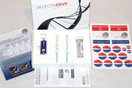 Geöffnetes Markierungs-Set künstliche DNA